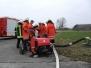 Übung des Löschzugs Wasserversorgung am Flugplatz Lahr