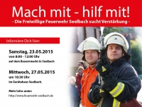 Mach Mit – Hilf mit! Die Freiwillige Feuerwehr Seelbach freut sich auf Dich