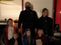 Feuerwehr-Nikolaus vergisst die Jugend- und Kinderfeuerwehr auch in Pandemiezeiten nicht.